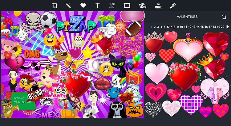 Photo editor pizap free online photo editor stickers stickers stickers reheart